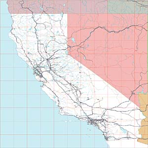 USA Relief Map Collection Catalog State of California