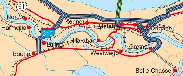 map of louisiana. Map of Louisiana - the