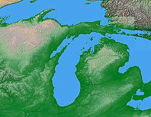 USA Relief Map Collection Catalog State Of Michigan - Physical map of michigan