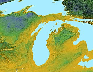 Usa Relief Map Collection Catalog State Of Michigan
