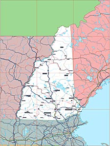USA Relief Map Collection Catalog State Of New Hampshire - New hampshire map usa