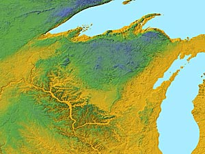 USA Relief Map Collection Catalog  State Of Wisconsin